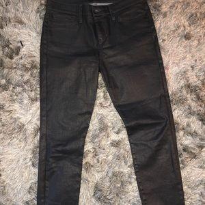 Joes jeans midrise skinny faux leather like coated